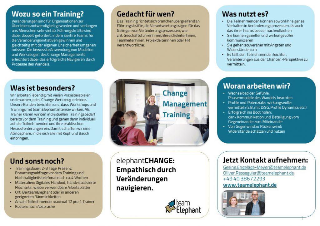 Change Management Seminar und Training_One-Pager