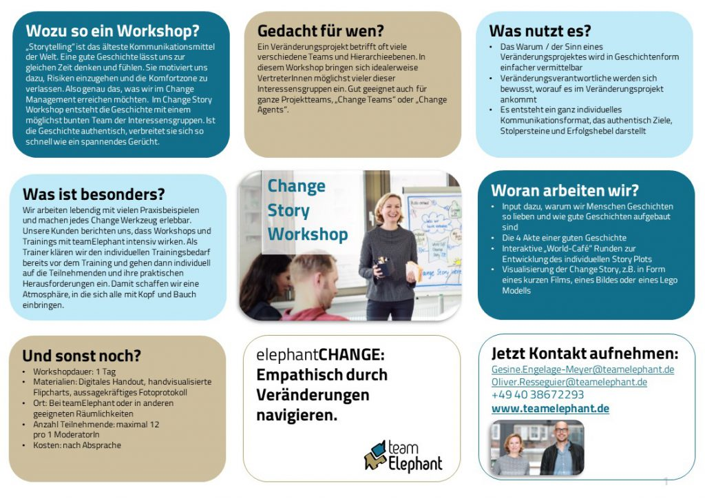 Change Story Workshop_teamElephant_One-Pager