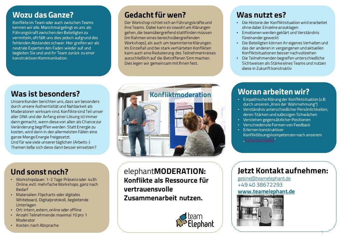 Konfliktmoderation_Online Workshop oder Offline_teamElephant